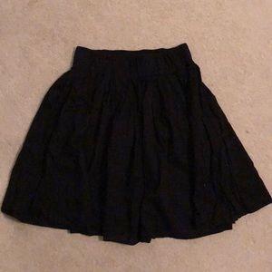 Club Monaco Cotton Flare Skirt